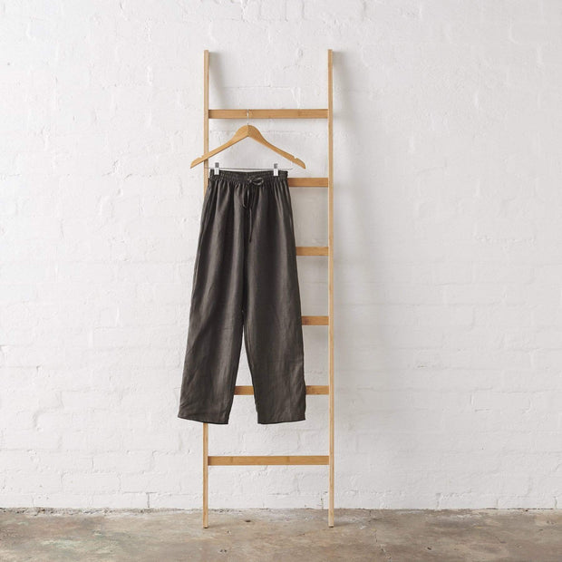 Charcoal Linen PJ Pant - Standard Length | Jade and May -Pajamas- Jade and May