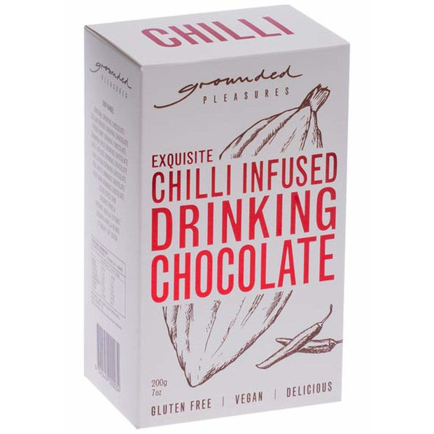 Chilli Infused Drinking Chocolate 200gm | Grounded Pleasures -Hot Chocolate- Jade and May