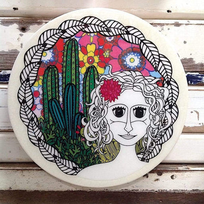 Desert Goddess Roundy Woodblock | Lost and Found -Art- Jade and May