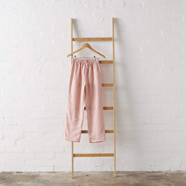 Dusky Rose Linen PJ Pant - Standard Length | Jade and May -Pajamas- Jade and May