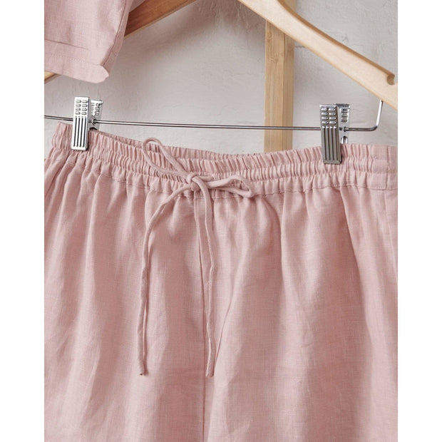 Dusky Rose Relaxed Linen Shorts | Jade and May -Pajamas- Jade and May