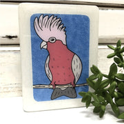Galah Colourful Woodblock Art | Lost and Found Art Co -Art- Jade and May