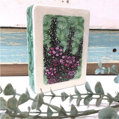 Geraldton Wax Woodblock Art | Lost and Found Art Co -Art- Jade and May