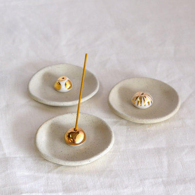 Gold Lustre Ceramic Incense Holder | Kim Wallace Ceramics -Ceramics- Jade and May