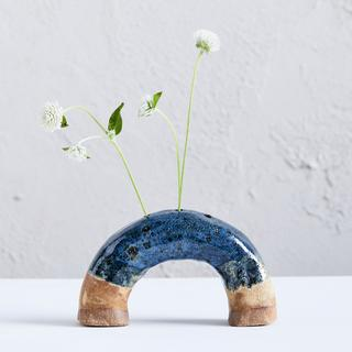 Grande Archie Vase - Speckled Blue | Woodfolk Natural Accessories -Vase- Jade and May