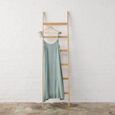 Green Bamboo Satin Strappy Nightie | Jade and May -Nightie- Jade and May