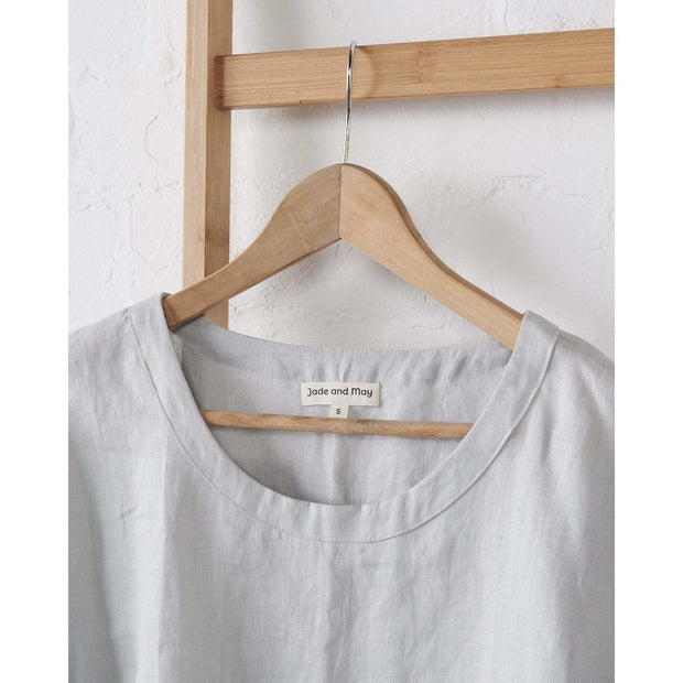 Harbour Mist Boxy Linen Pajama Top | Jade and May -Pajamas- Jade and May