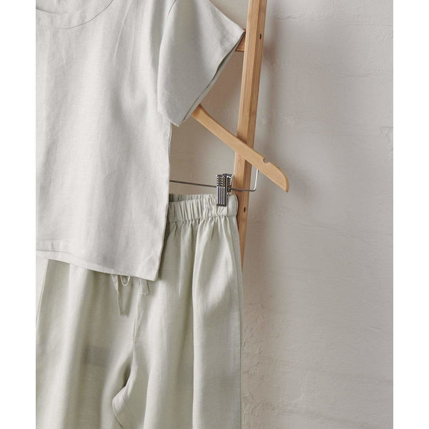 Harbour Mist Linen Boxy T and Pant Set | Jade and May -Pajamas- Jade and May