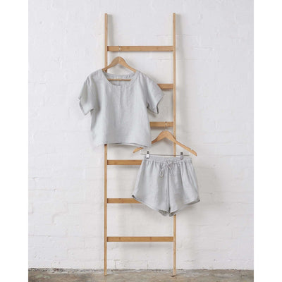 Harbour Mist Linen PJ Set | Jade and May -Pajamas- Jade and May