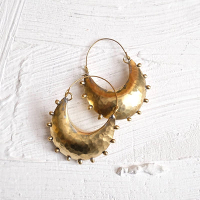 Hebba Crescent Hoop Earrings | Hamimi -Jewellery- Jade and May