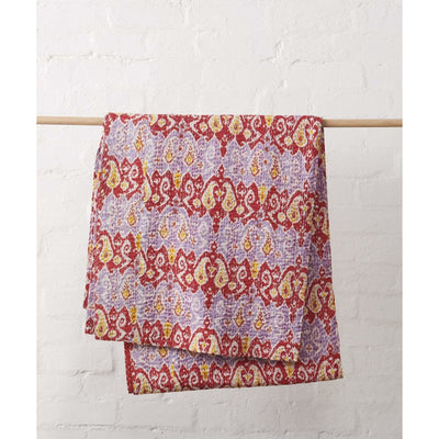 Ikat Kantha Quilt -Blankets and Throws- Jade and May
