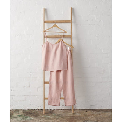 Linen Cami and PJ Pant Set in Dusky Rose | Jade and May -Pajamas- Jade and May