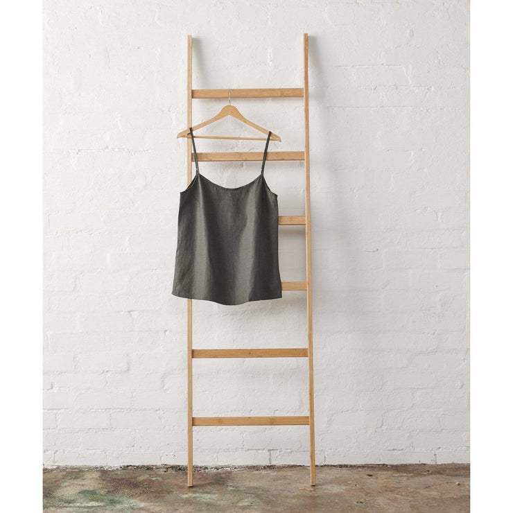 Linen Cami in Charcoal Jade and May -Pajamas- Jade and May