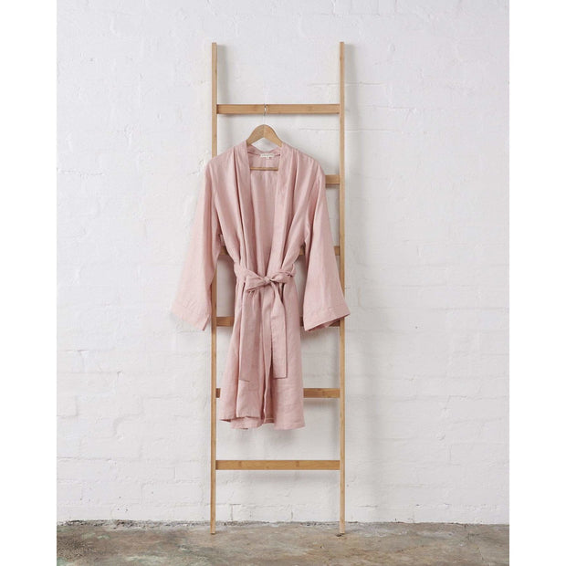 Linen Kimono Bathrobe - Dusky Rose | Jade and May -Kimono- Jade and May