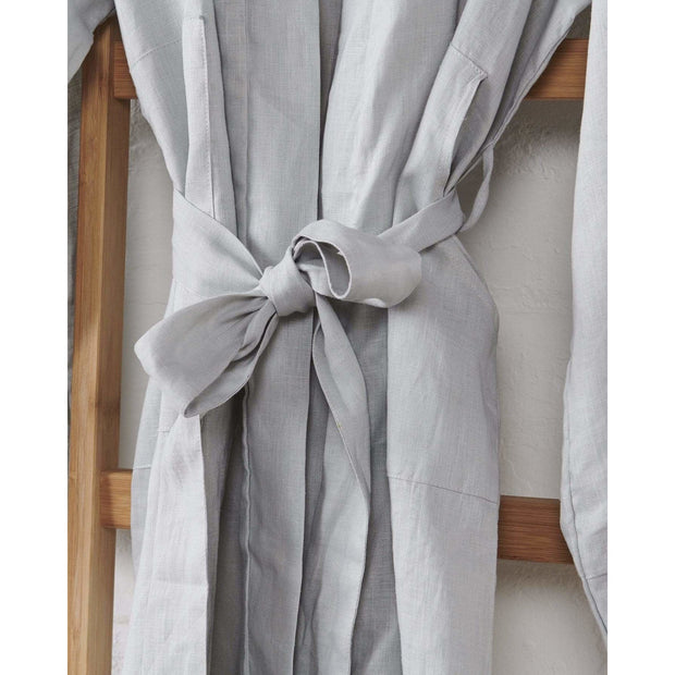 Linen Kimono Bathrobe - Harbour Mist | Jade and May -Kimono- Jade and May