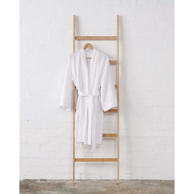Linen Kimono Bathrobe - Snow White | Jade and May -Kimono- Jade and May