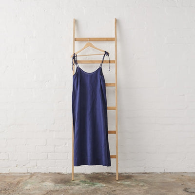 Linen Nightie in Navy Linen | Jade and May -Nightie- Jade and May