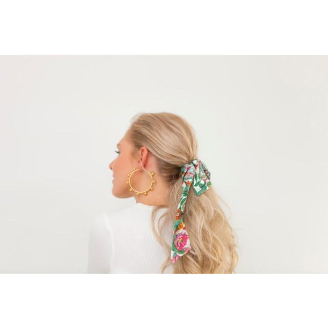 Juliette Hair Scarf in Cactus Garden | Louvelle Shower Wear - Jade and May