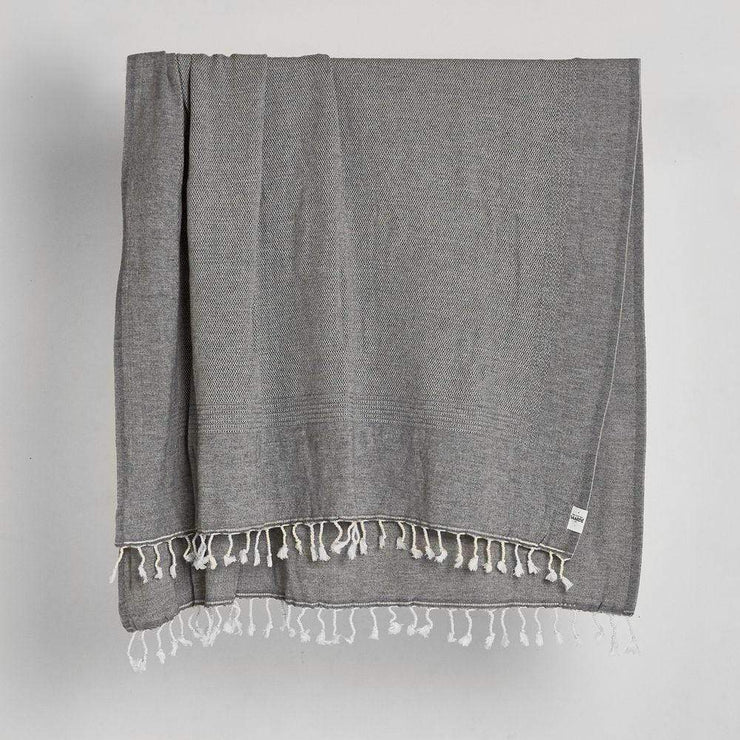 Nadir Throw in Charcoal | Saarde -Blankets and Throws- Jade and May