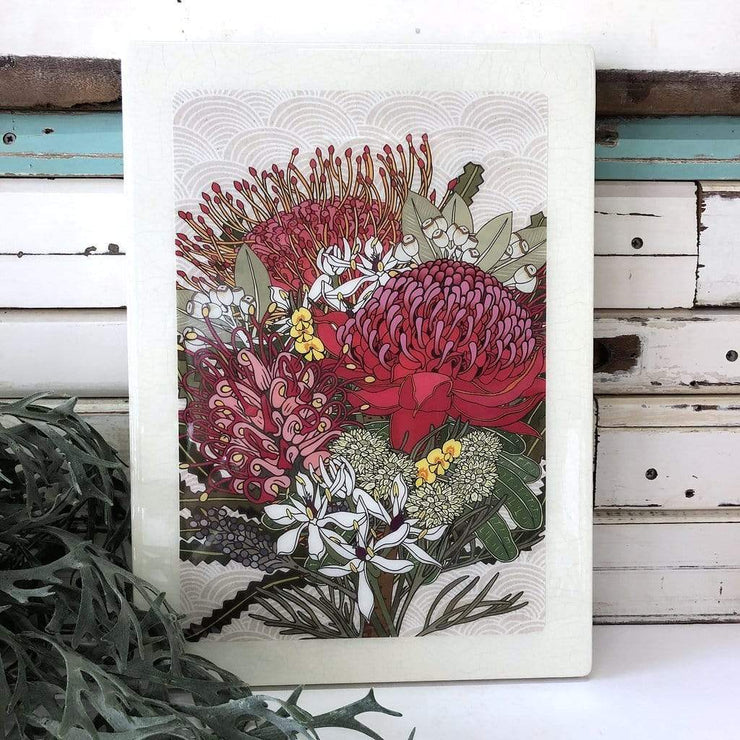 Native Bloom Woodblock | Lost and Found Art Co -Art- Jade and May