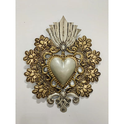 New Beginnings Primavera Mexican Heart | Mexican Folkart -For the wall- Jade and May