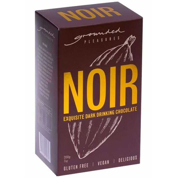 Noir Drinking Chocolate 200gm | Grounded Pleasures -Hot Chocolate- Jade and May