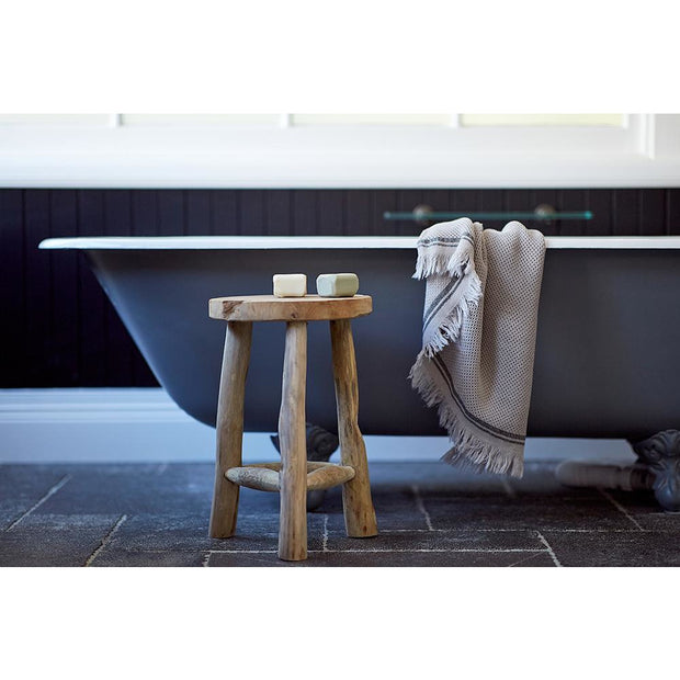 Nurture Cotton Hand Towel in Pale Grey | Saarde -Towels- Jade and May