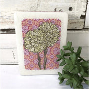 Pink Pompom Everlasting Woodblock | Lost and Found Art Co -Art- Jade and May