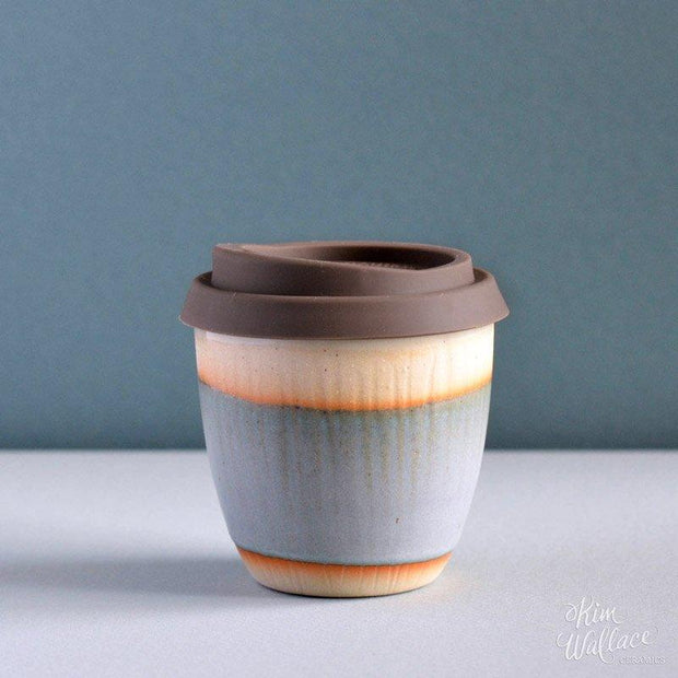 Reusable ceramic takeaway coffee cup - Bluegum on Stone | Kim Wallace Ceramics -Ceramics- Jade and May