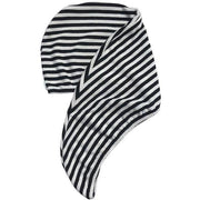 Riva Hair Towel Wrap in Monochrome Stripe | Louvelle Shower Wear -Hair- Jade and May