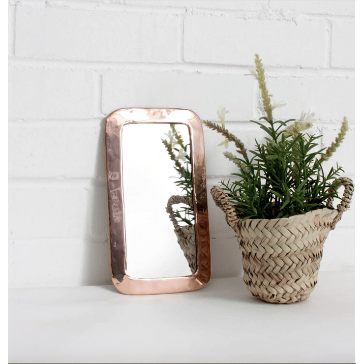 Rose Gold Moroccan Rounded Rectangle Mirror | Jade and May -Mirror- Jade and May