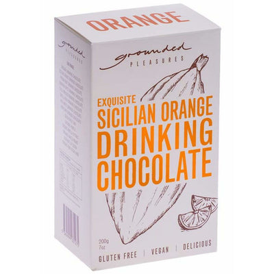 Sicilian Orange Drinking Chocolate 200gm | Grounded Pleasures -Hot Chocolate- Jade and May