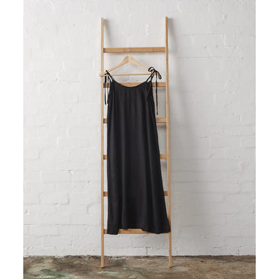 Strappy Linen Linen Nightie in Black | Jade and May -Nightie- Jade and May