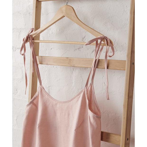 Strappy Linen Nightie in Dusky Rose | Jade and May -Nightie- Jade and May