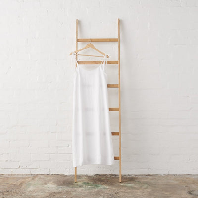 Strappy Linen Nightie in White Linen | Jade and May -Nightie- Jade and May