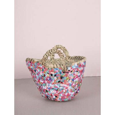Tiny Moroccan Sequin Baskets | Jade and May -Basket- Jade and May