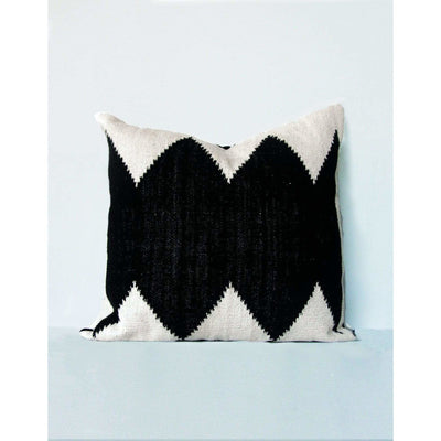 Tribal Black Floor Cushion | Saarde -Floor Cushion- Jade and May