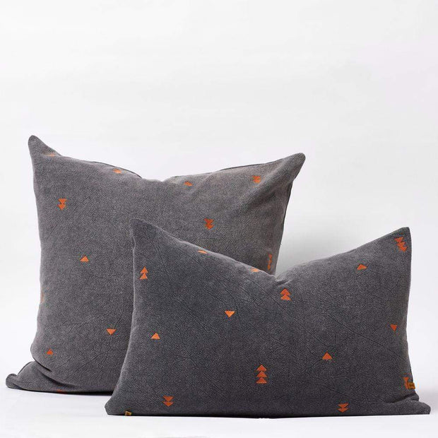 Vintage Wash Cushions in Charcoal | Saarde -Cushion- Jade and May