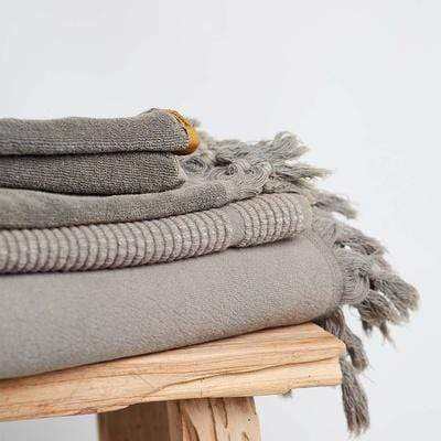 Vintage Wash Towel Range in Olive | Saarde -Bath- Jade and May