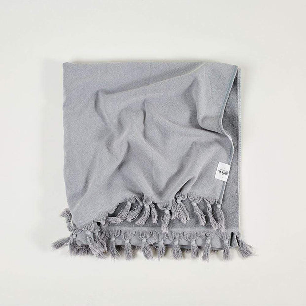 Vintage Wash Towel Range in Pale Grey | Saarde -Towels- Jade and May