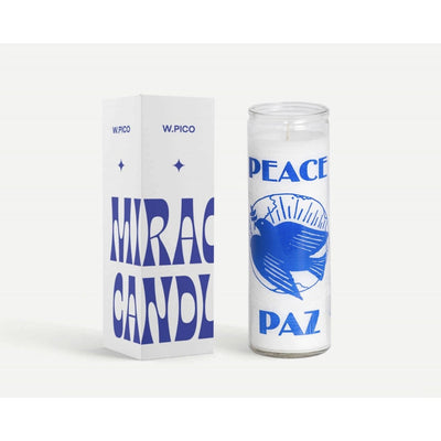 W Pico Miracle Candle - Peace -W Pico Candles- Jade and May