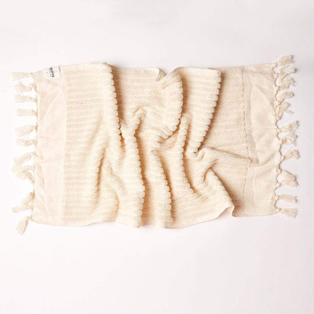 Wanderer Stripe Hand Towel in Natural | Saarde -Towels- Jade and May