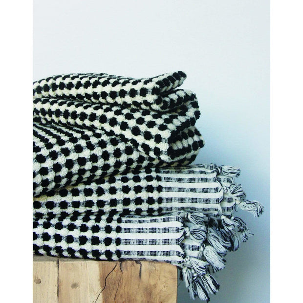 Wanderer Towel in Black | Saarde -Bath- Jade and May