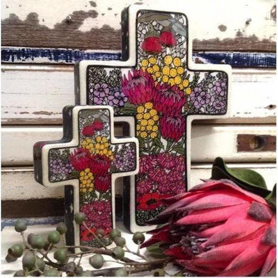 Wildflower Cross | Lost and Found Art Co -Art- Jade and May