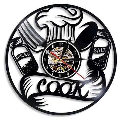 Wall Clock Vinyl Kitchen