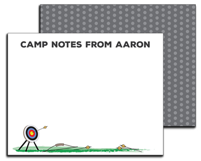 Archery Unlined Camp Notecards