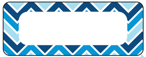Chevron Blue Waterproof Labels