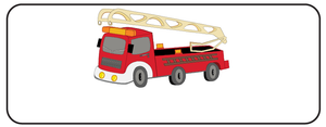 Firetruck Waterproof Labels