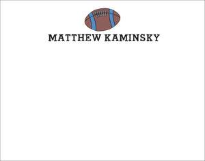Football Flat Notecards