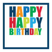 Load image into Gallery viewer, Happy Birthday (Primary Bold) Gift Stickers